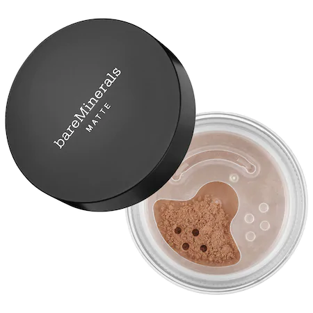 Bareminerals Matte Loose Powder Mineral Foundation Broad Spectrum Spf 15 Tan Nude 17 0.2 oz/ 6 G In Tan Nude 17 - For Medium To Tan Skin With Warm Undertones