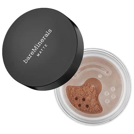 Bareminerals Matte Loose Powder Mineral Foundation Broad Spectrum Spf 15 Neutral Dark 24 0.2 oz/ 6 G In Neutral Dark 24 - For Dark Skin With Neutral Undertones