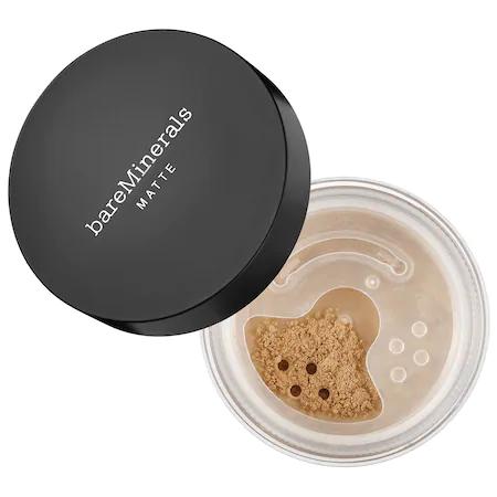 Bareminerals Matte Loose Powder Mineral Foundation Broad Spectrum Spf 15 Medium Tan 18 0.2 oz/ 6 G In Medium Tan 18 - For Medium To Tan Skin With Cool To Neutral Undertones