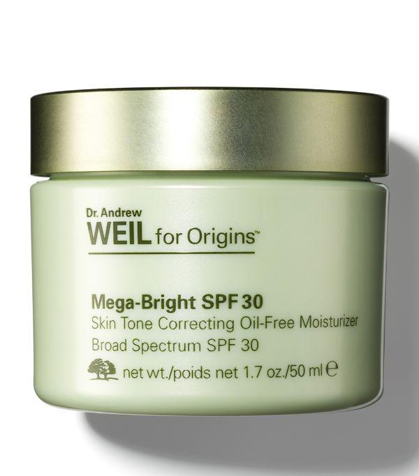 Origins + Dr. Andrew Weil Mega-bright Spf 30 Oil-free Moisturiser (50ml) In White