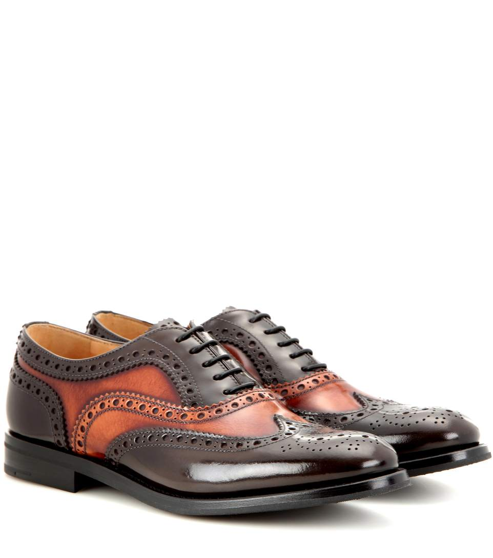 Church's Burwood Polished Leather Brogues In Lrowe+talac