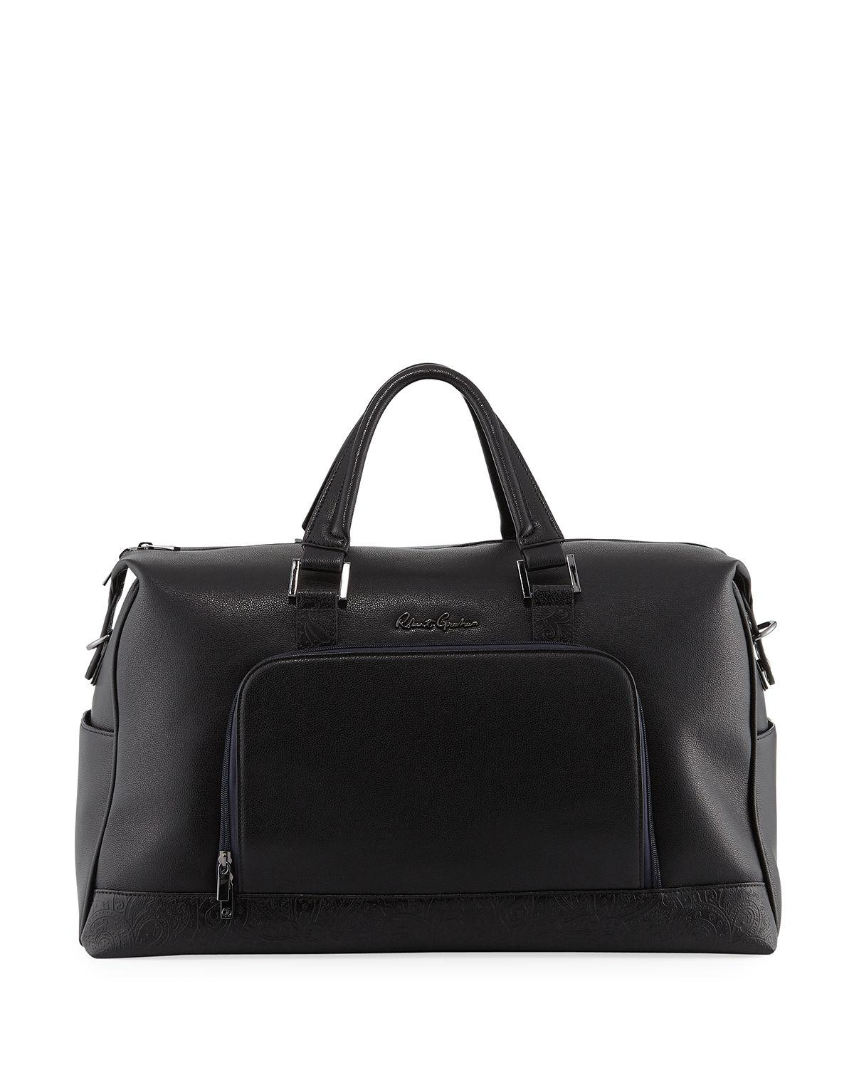 Robert Graham Men's Piro Faux-Leather Weekender Bag In Black