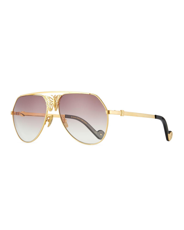 45480a62ce Anna-Karin Karlsson Miss Rosell Gradient Aviator Sunglasses W  3D ...