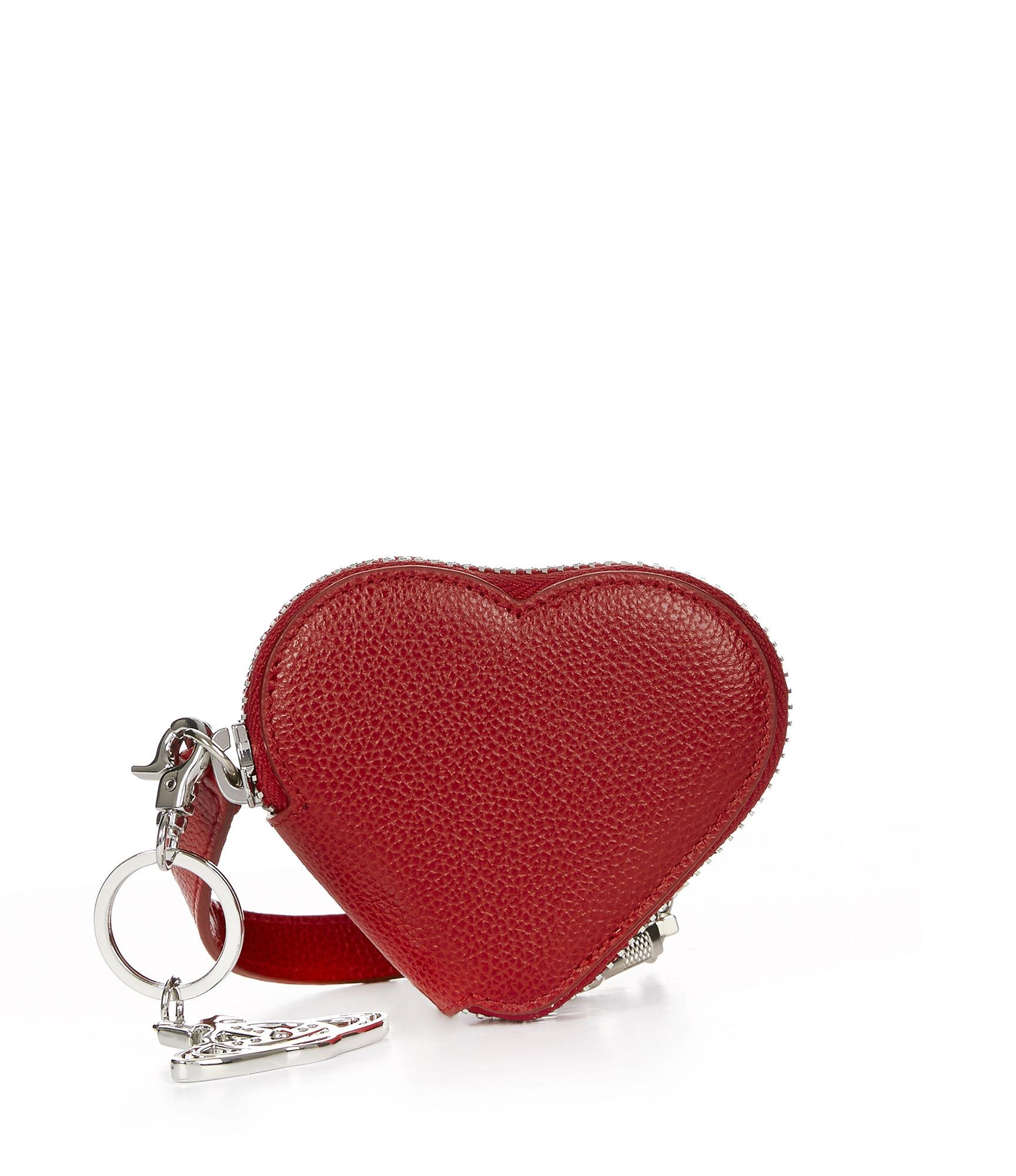 442630701c Vivienne Westwood Johanna Heart Coin Purse With Orb Gadget 51070018 Red