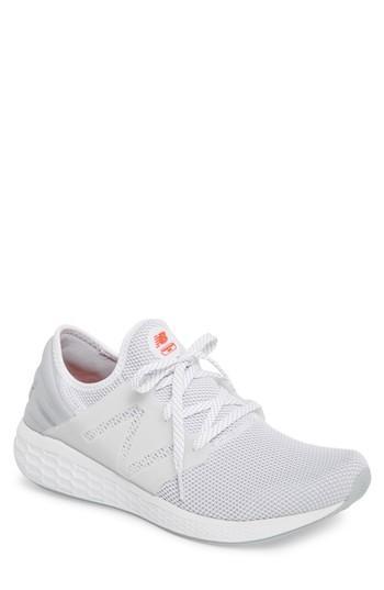 Men's Fresh Foam Cruz Knit Lace Up Sneakers in White