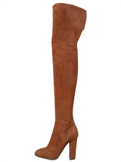 Giuseppe Zanotti Alabama Suede Over-The-Knee Boot, Castor In Brown