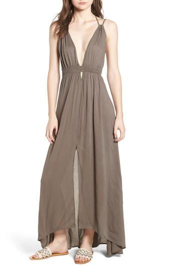 4f46a7af95 Astr Gauze Crinkle Maxi Dress In Rust | ModeSens