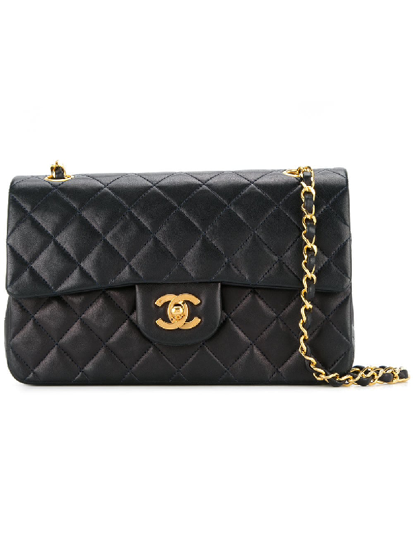 d7ca7ecfe5d9 Chanel Vintage Double Flap Shoulder Bag - Farfetch In Navy | ModeSens