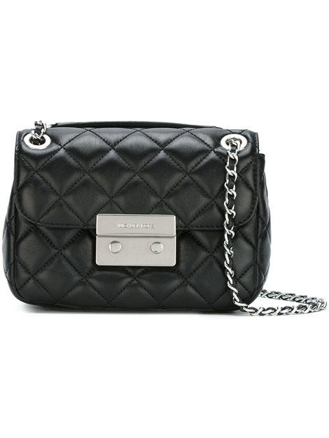 Michael Michael Kors Sloan Small Leather Shoulder Bag In Black