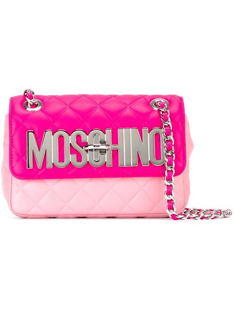 Moschino Quilted Shoulder Bag In Pink