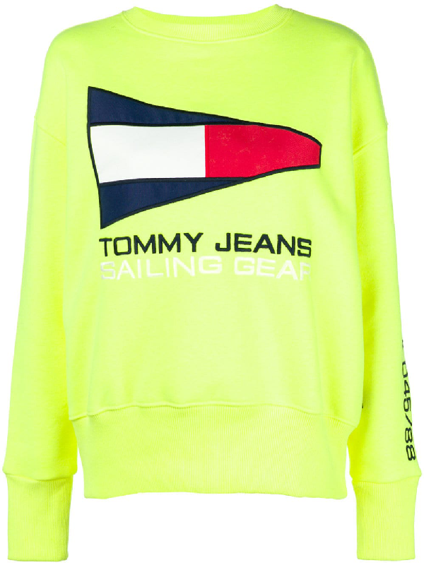 399c3126 Tommy Jeans Tommy Jean 90S Capsule 5.0 Sailing Flag Logo Sweatshirt - Yellow