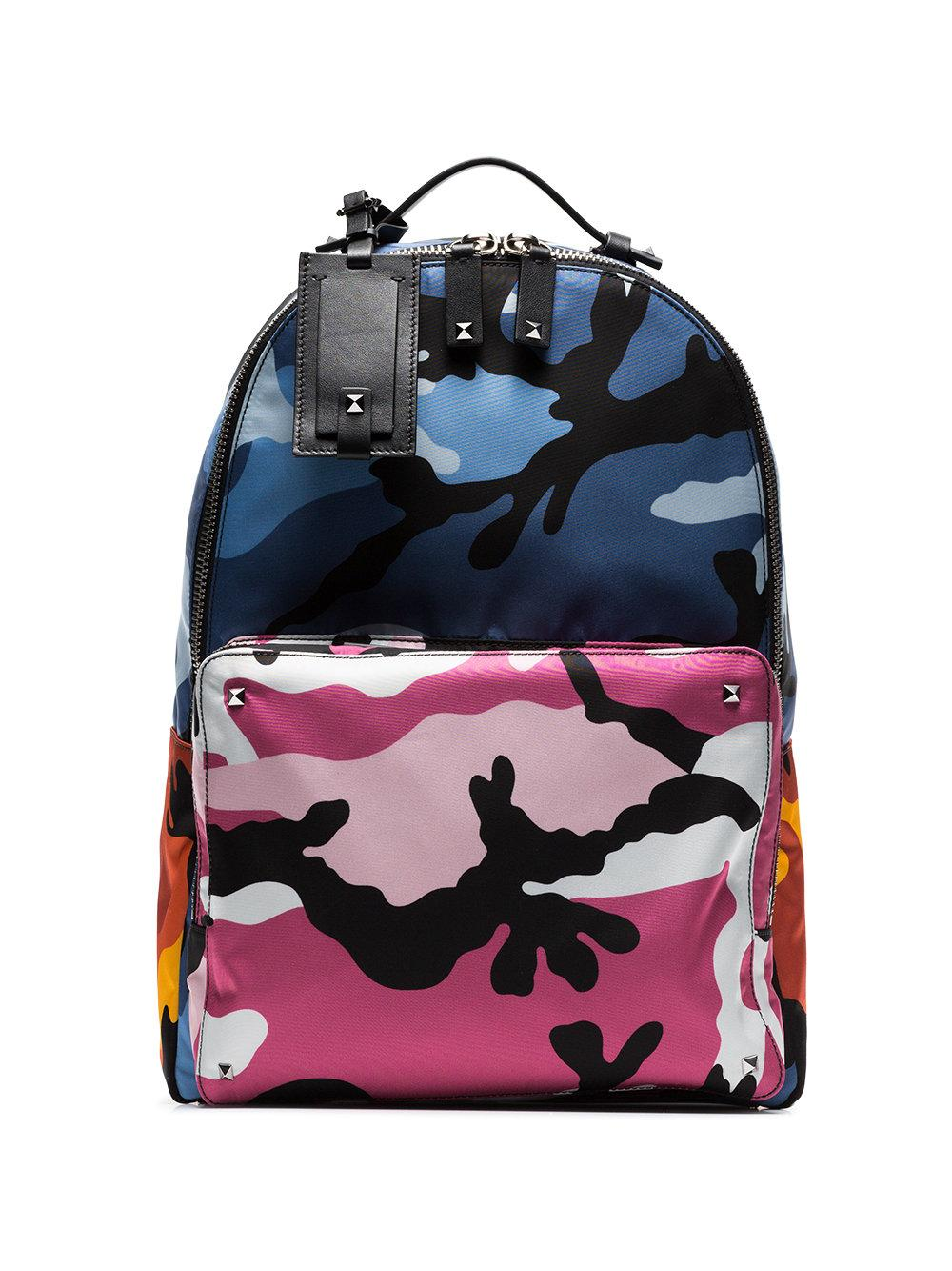 a1eff8d401 Valentino Men s Multicolor Camo-Print Backpack In Multicolour