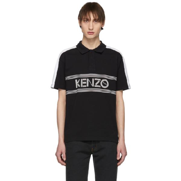 bfe03e71 Kenzo Logo-Print Cotton-Jersey Polo Shirt In 99 Black | ModeSens