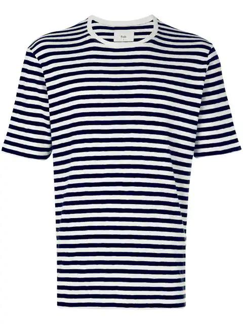 Folk Classic Stripe T-Shirt In Blue