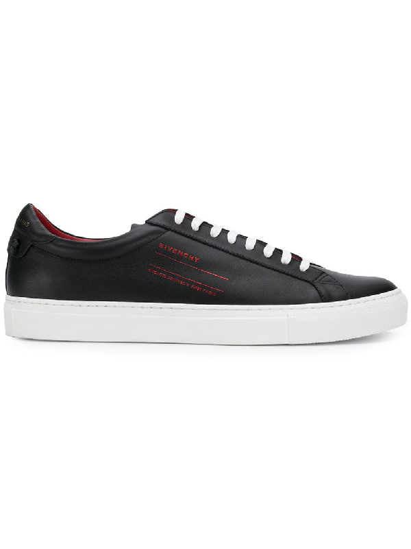 Givenchy Men's Urban Leather Logo-Sides Street Sneakers In Black
