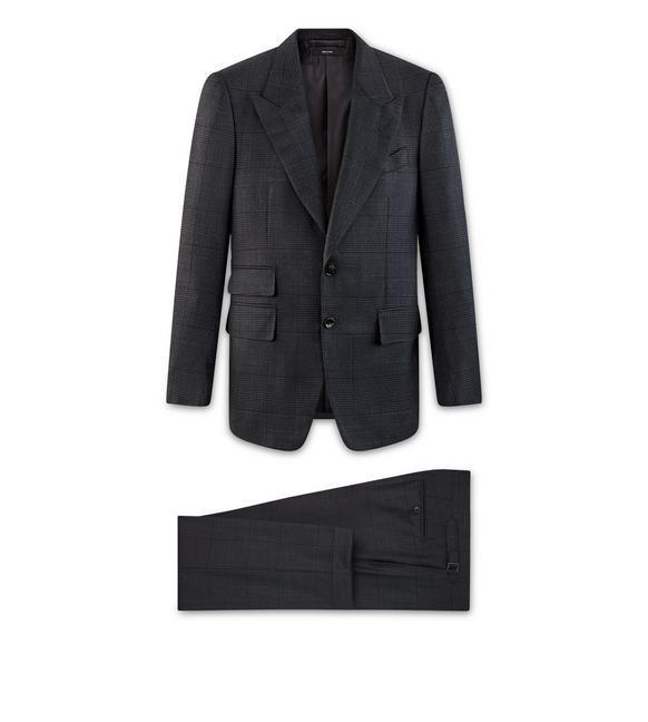 Tom Ford Black Wool Shelton Suit