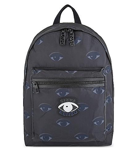 Kenzo Essentiels Eyes Backpack In Mignight Blue