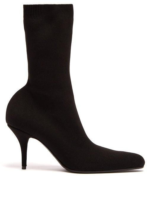 f7b14128e94c4b Balenciaga Stiletto Heel Pointed Sock Booties In Black | ModeSens