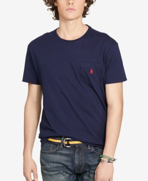 Polo Ralph Lauren Men's Standard Fit Pocket T-shirt In Ink