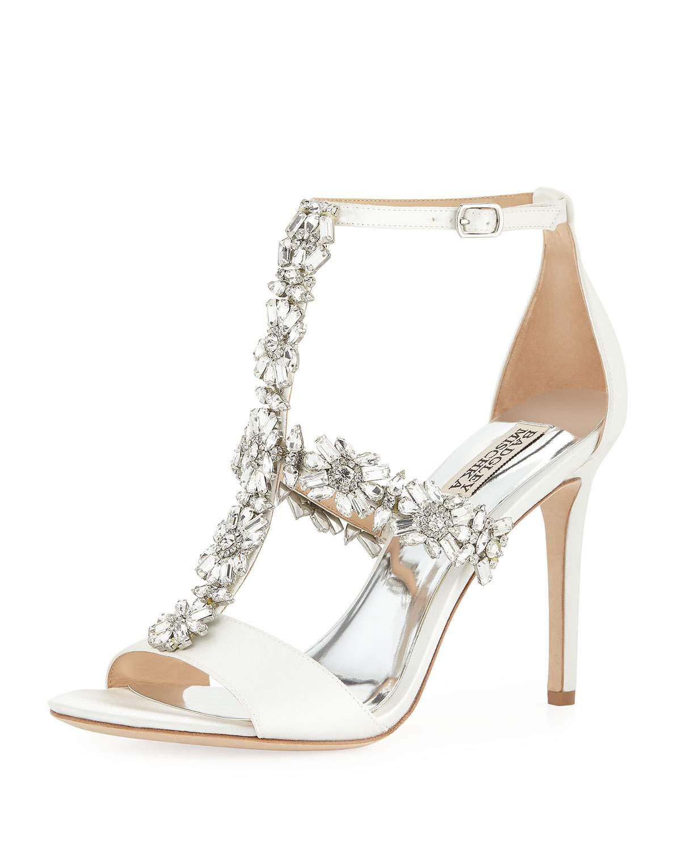 4c0e20a7a76 Badgley Mischka Munroe Embellished T-Strap Dress Sandal In Dark ...