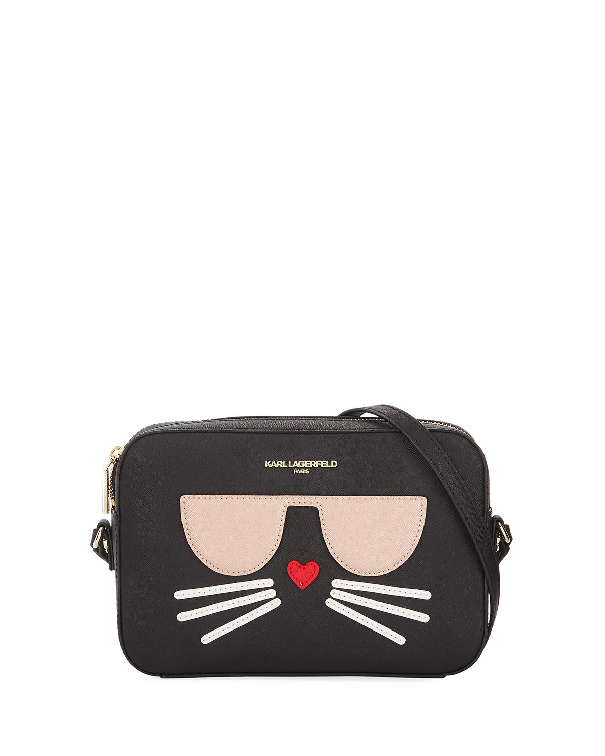 Karl Lagerfeld Maybelle Saffiano Leather Crossbody Bag With