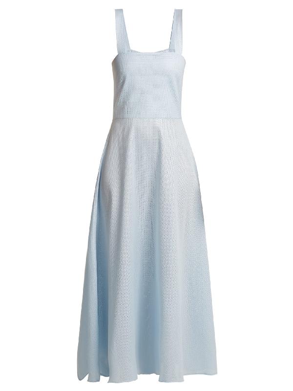 Gioia Bini Lucinda Cotton Maxi Dress In Light Blue