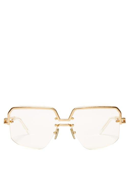 ea6d1187aaa8 Celine Gold-Tone Top Frame Sunglasses In Clear