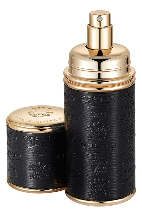 Creed Black With Gold Trim Leather Atomizer, 1.7 oz