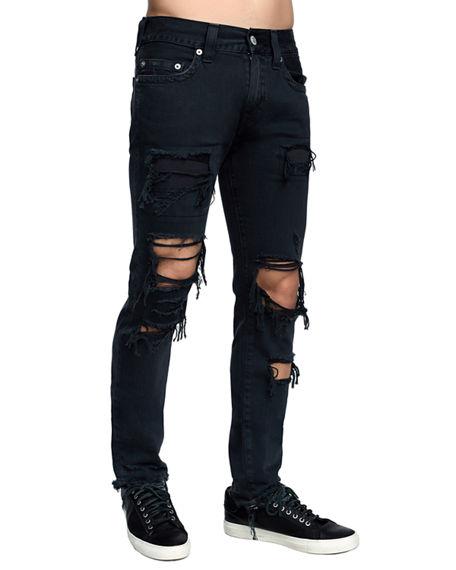 5dbc86978 True Religion Rocco Slim Fit Jeans In Black Volcanic Ash In Fajb Black  Volcan
