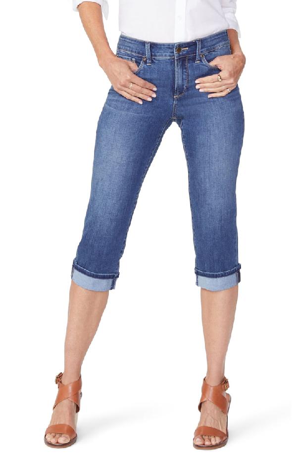 d36627a9730 Nydj Marilyn High Waist Cuffed Stretch Crop Jeans In Zimbali