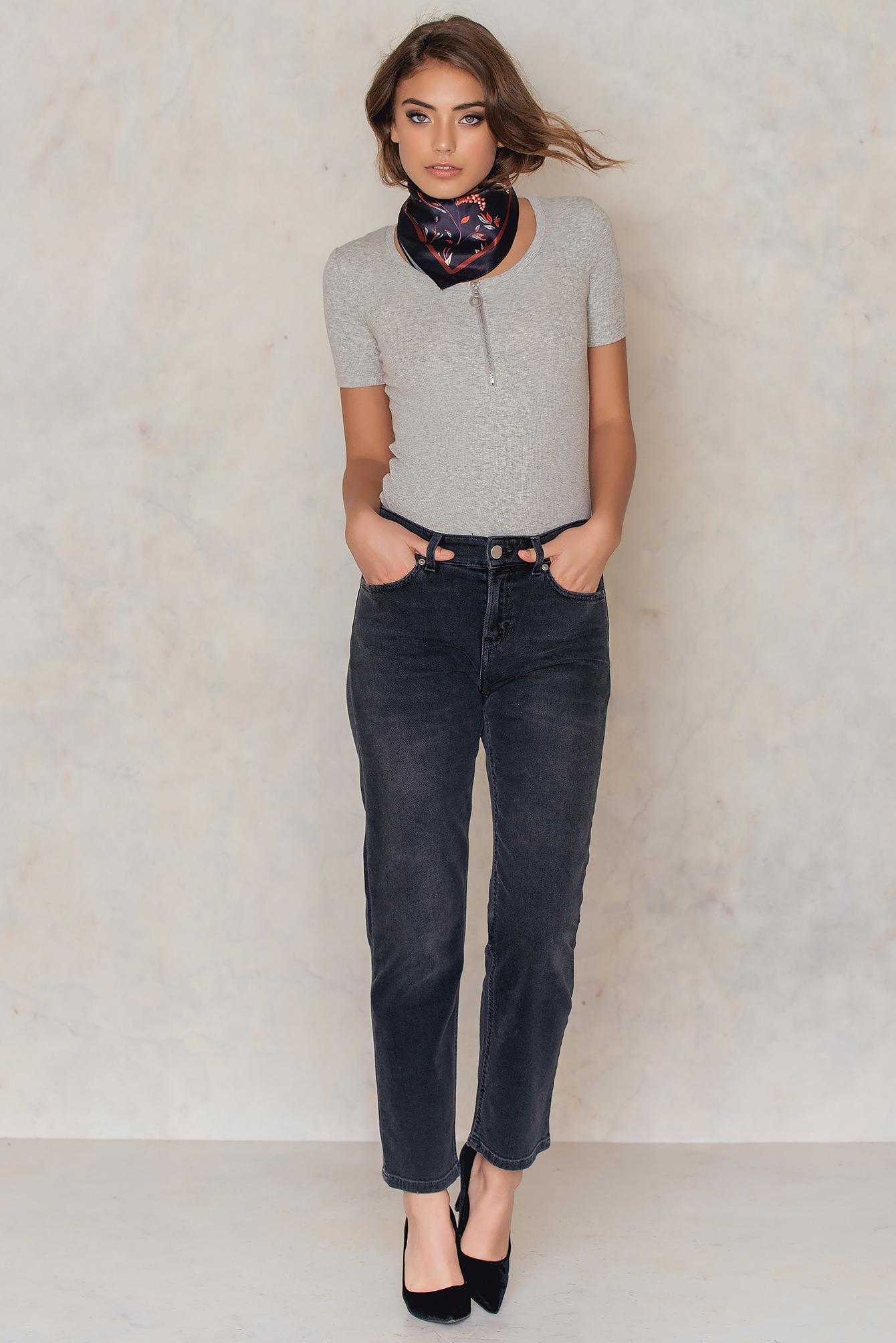 uusin muotoilu noukkia alhainen hinta Alex Grey Wash Jeans - Grey