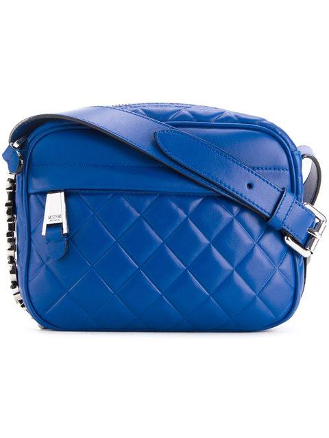 Moschino Quilted Crossbody Bag In 브라이트 블루