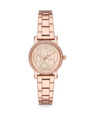 Michael Kors Petite Norie Rose-Goldtone Bracelet Watch In Rose Gold/ Mop/ Rose Gold