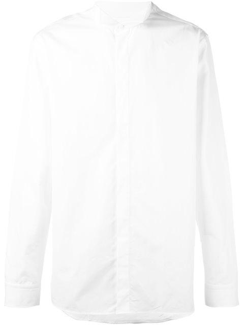 Balmain Classic Cutaway Collar Shirt In White