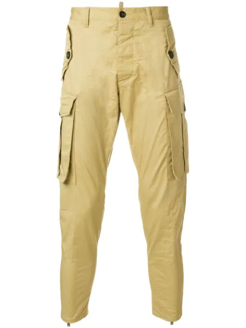 Dsquared2 Cropped Cargo Trousers - Neutrals