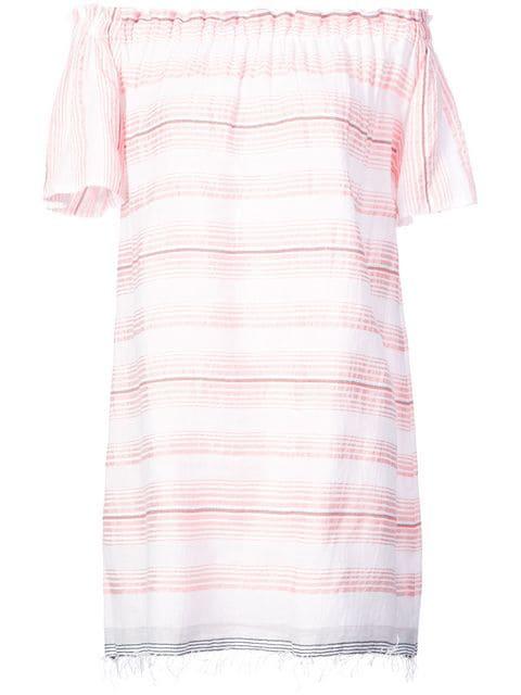Lemlem Tereza Ruffle Neck Dress In Pink