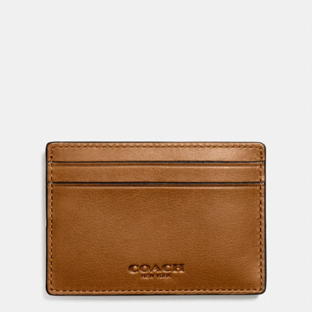 low priced 7d695 271e0 Money Clip Card Case In Sport Calf Leather in : Saddle