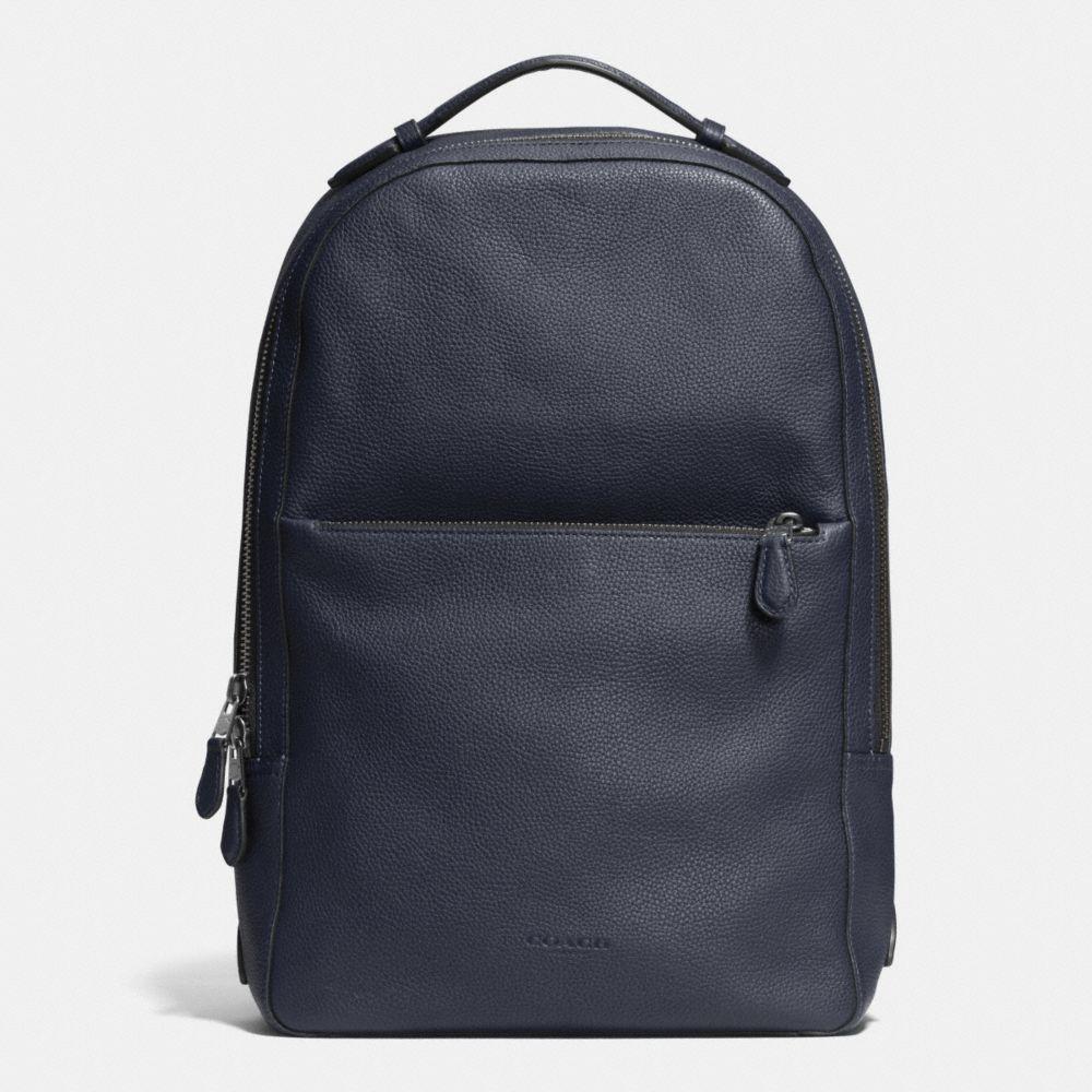 Coach Metropolitan Soft Backpack In Midnight Navy/black/black Antique Nickel