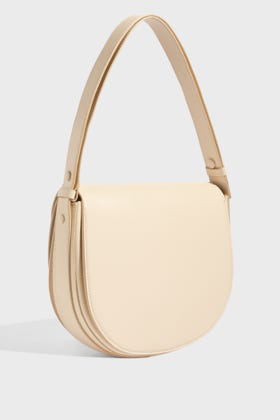 Victoria Beckham Double Moon Leather Shoulder Bag