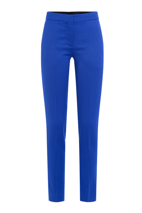 Moschino Virgin Wool Pants In Blue