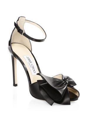Jimmy Choo Karlotta Peep Toe Heels In Black