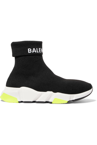 c1ea2c92fb Balenciaga Men s Speed High-Top Stretch-Knit Sock Sneakers