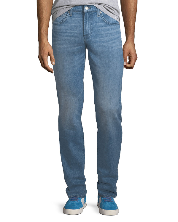 7 For All Mankind Men's Slimmy Straight-leg Jeans In Summerland