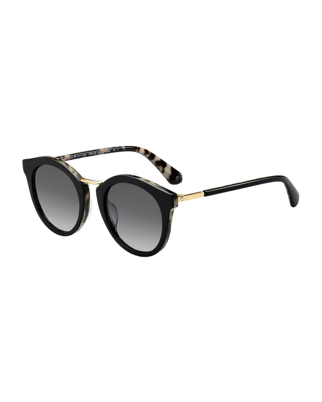 fce62191d2 Kate Spade Joylyn 50Mm Round Sunglasses - Black Havana