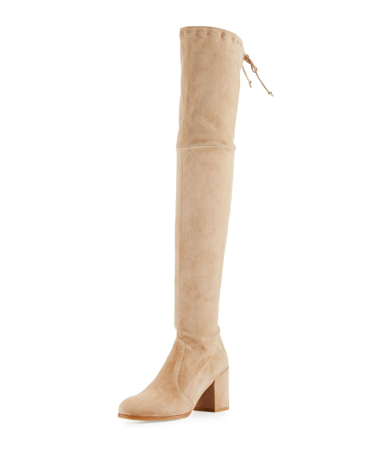 1c08ddc5333 Stuart Weitzman Tieland Suede Over-The-Knee Boot In Mojave