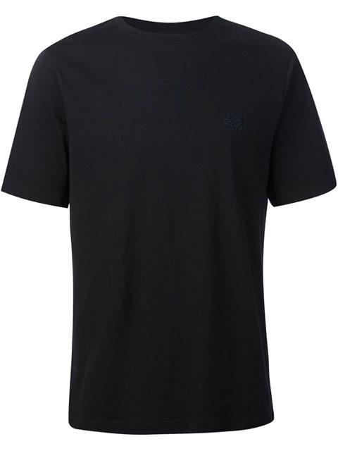 Loewe Logo-embroidered Cotton T-shirt In Grey