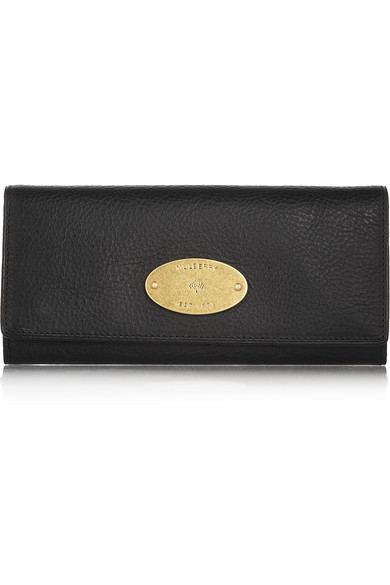 Mulberry Textured-Leather Continental Wallet In Black