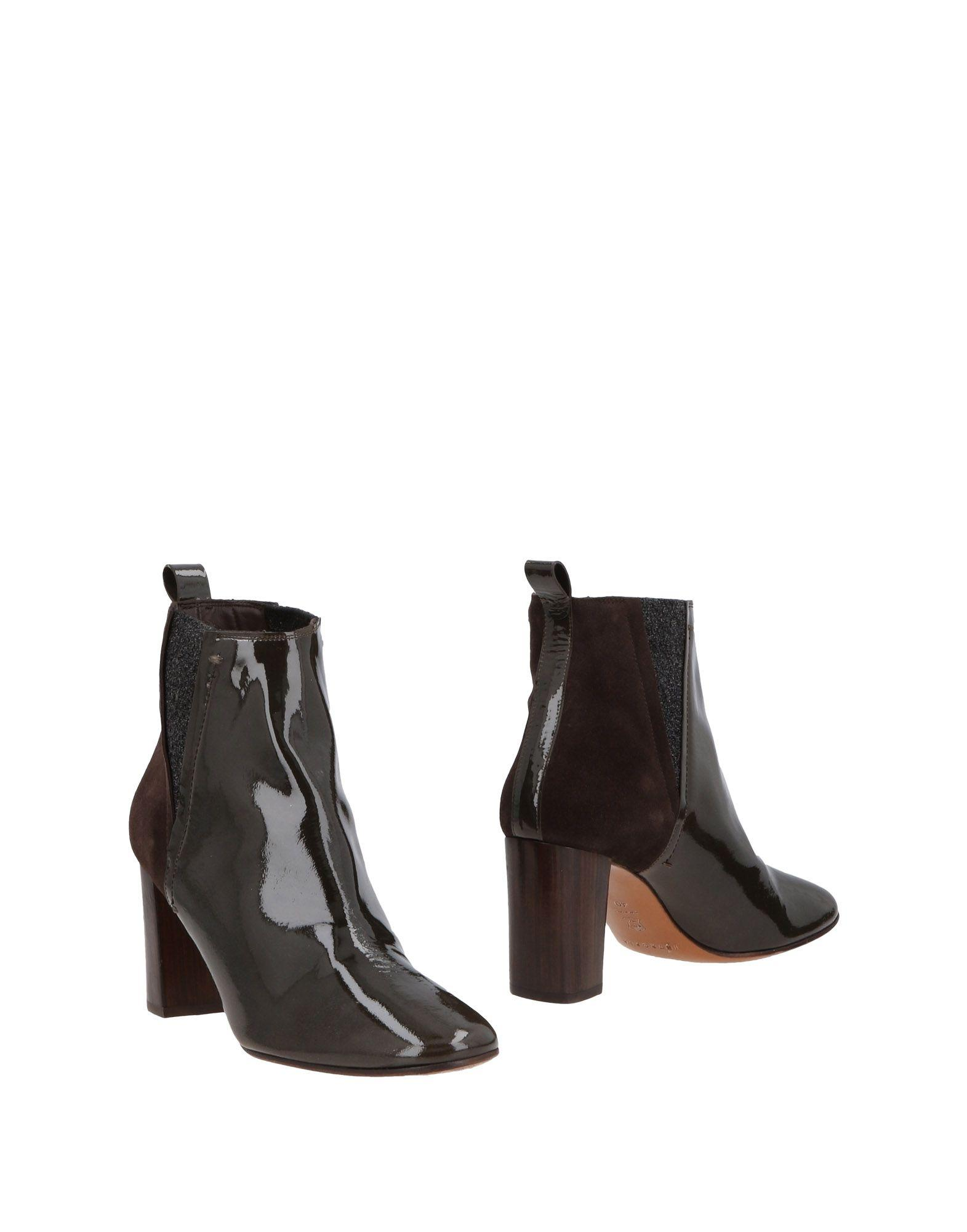 Intropia Ankle Boot In Dark Brown