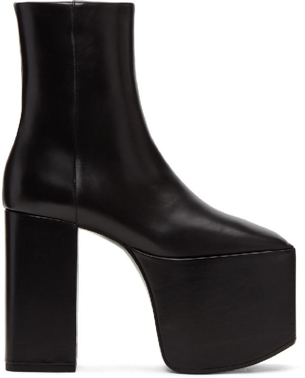 Balenciaga Black Leather Platform 130 Boots