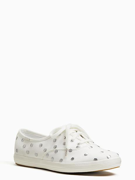 a28b32c6229 Kate Spade Keds X New York Champion Dancing Dot Sneakers In Pristine Silver